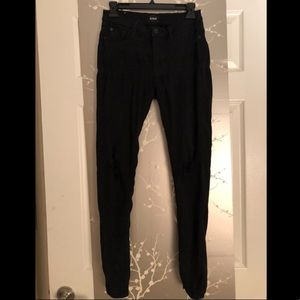 HUDSON Black Skinny Jeans
